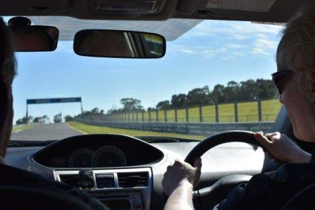 Blind drivers take over at Sandown Raceway in Melbourne for In The Driver's Seat