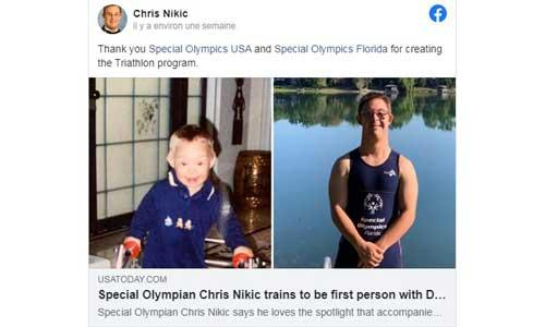 Florida, the first triathlete with Down's syndrome for an Ironman