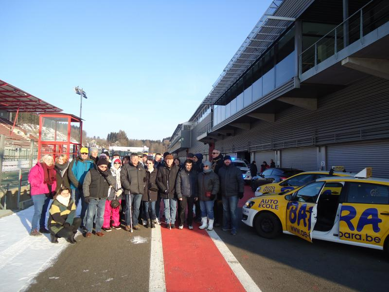 Belgium, Formula 1 circuit, snow and ice was at the program …