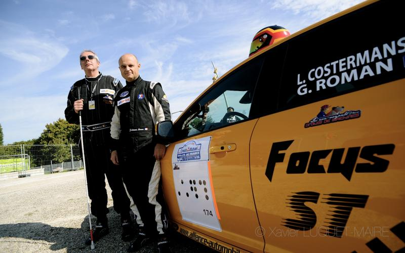 A first event : French Rally, a blind person driving… !
