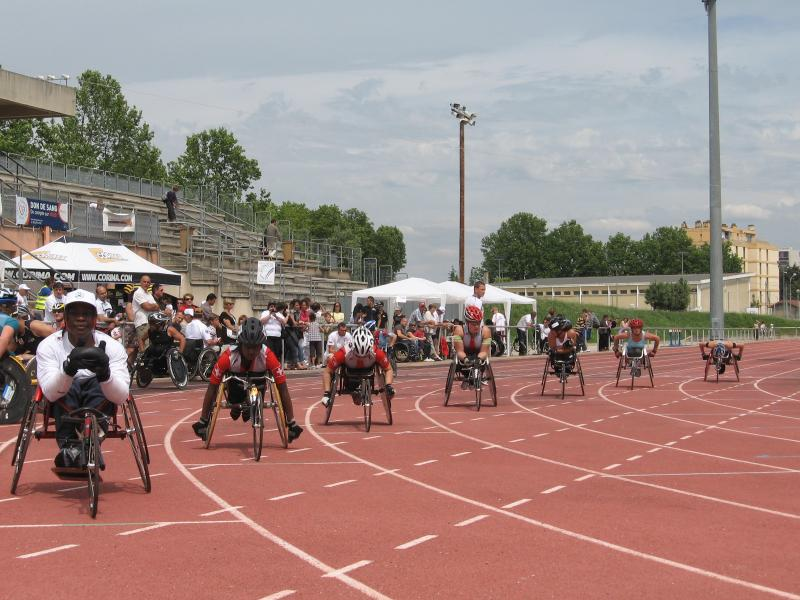 International wheelchairs athletics in Avignon